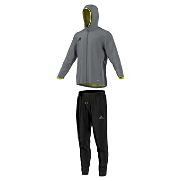adidas Herren Sportanzug Präsentationsanzug Condivo 16 Trainingsanzug, VisgreSchwarz, XXXL