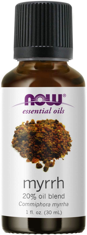 NOW Essential Oils, Myrrh Oil Blend, Meditative Aromatherapy Scent, Steam Distilled, 100% Pure, Vegan, Child Resistant Cap, 1-Ounce