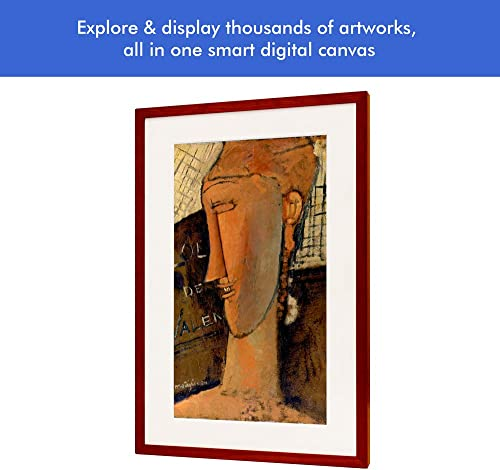 Canvia – Digital Art Canvas Smart Digital Frame 11AC WiFi 16GB 27x18in Frame Adv Full-HD Display Powered by ArtSense Free 2500 Artworks Black
