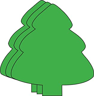 """product image for 5.5"""" Evergreen Tree Single-Color Creative Paper Cut-Outs, 31 Cut-Outs in a Pack for Christmas Tree/Winter Celebrations Décor and Kids Classroom Craft Projects"""