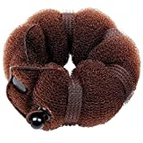 Healtheveryday® Beauty Buns 2 Pieces Magic Hair Styling Styler Twist Ring Former Shaper Doughnut Donut Chignon Bun Maker Clip Hair Curler Accessory Small & Large (Brown)