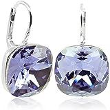 Ohrringe mit Kristallen von Swarovski® für Damen - Viele Farben - Silber - NOBEL SCHMUCK
