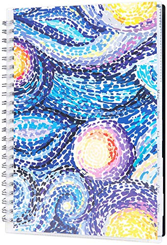 "2019-2020 Academic Planner, Weekly & Monthly Planner, July 2019 - June 2020, 12 Monthly Tabs, Twin Wire Binding, Clear Cover Pockets, 5"" x 8"""
