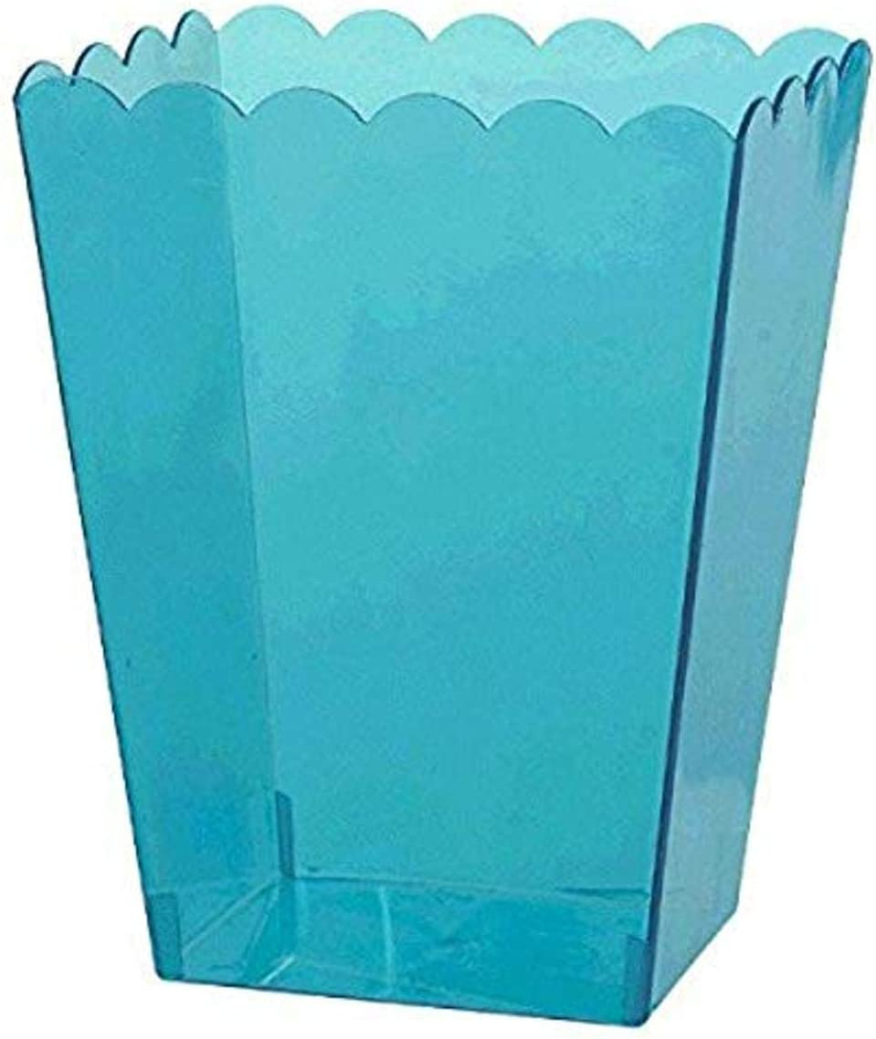Caribbean Blue Scalloped Container Party Favor Medium