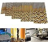 99 PCS 1.5mm-10mm HSS Twist Drill Bit Set Titanium Coated Plastic Wood Metal Drill Bits Set