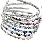 Iebeauty®Wholesale 2 Packs Fashion Elegant Bling Tiara Delicate Crystal Hair Hoop Girls Headband Accessory