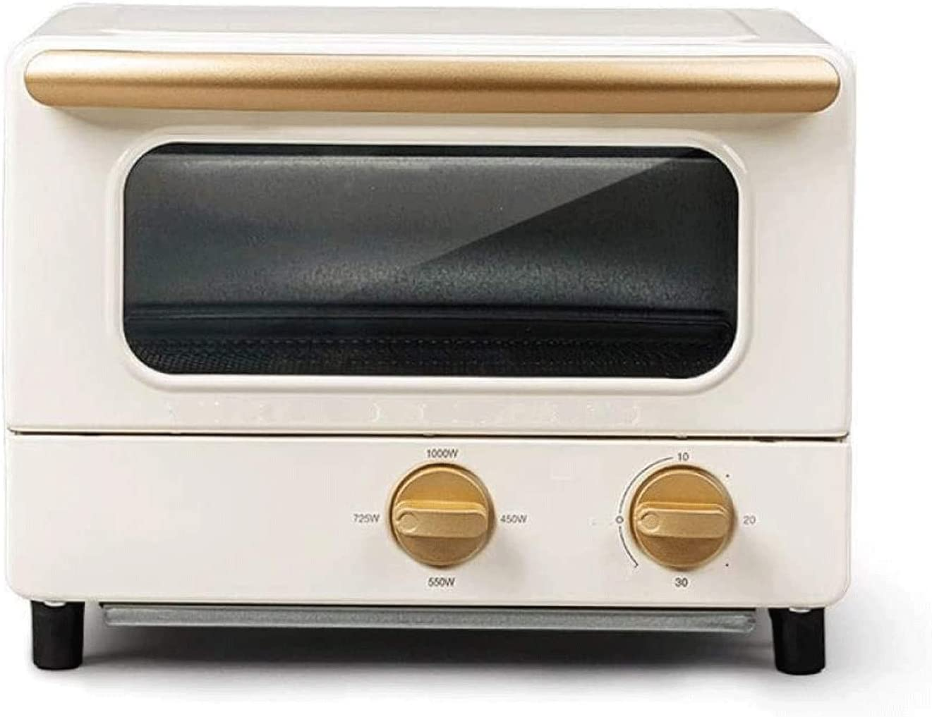 Z-COLOR Electric Oven Frying and Baking Integrated Household Baking Small Multi-Function Automatic 8L Mini Oven,Multi Cooking Function & Grill,Adjustable Temperature Control (Color : Ivory)
