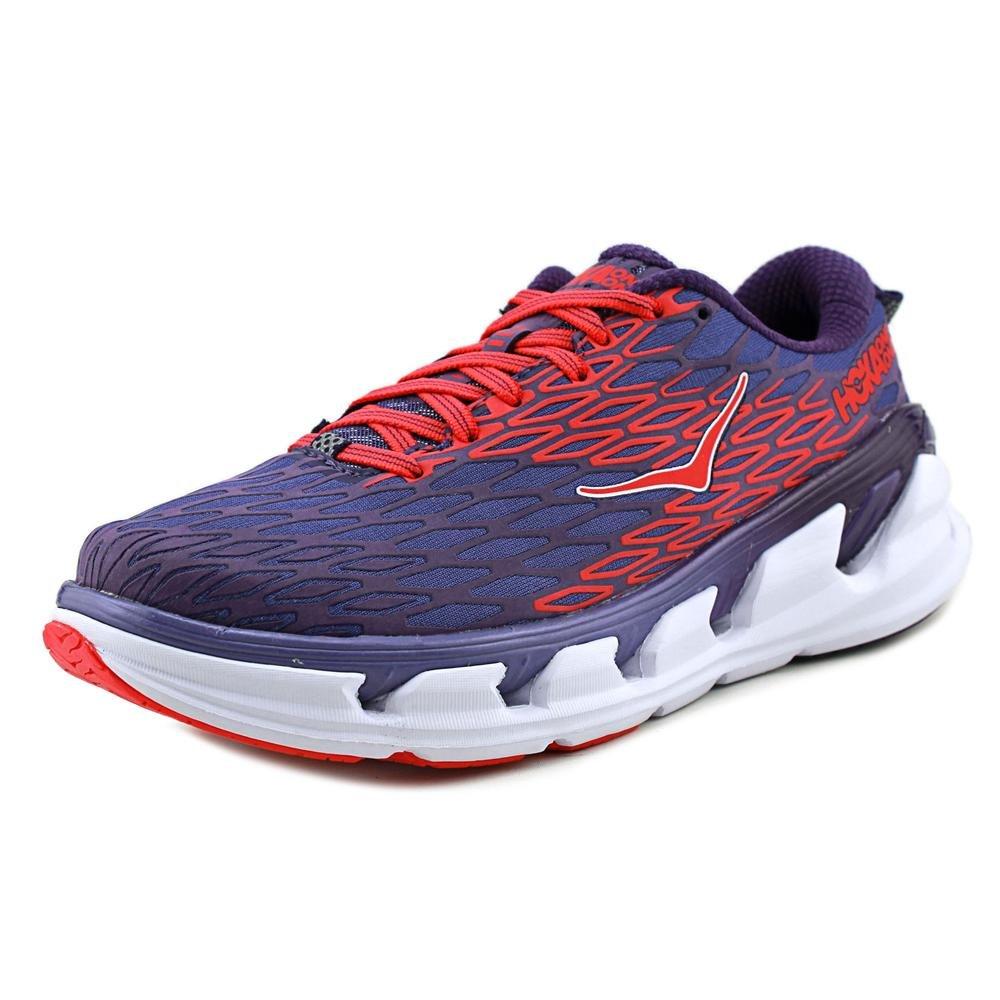 Hoka One One Womens Vanquish 2 Running Sneaker Shoe, Corsican Blue/Poppy Red, 9.5