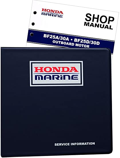 amazon com honda bf25 bf30 marine outboard service repair shop rh amazon com Repair Manuals honda bf25 service manual