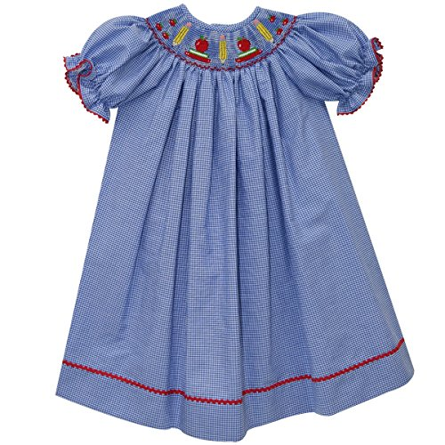SILLY GOOSE Back To School Smocked Bishop Short Sleeve
