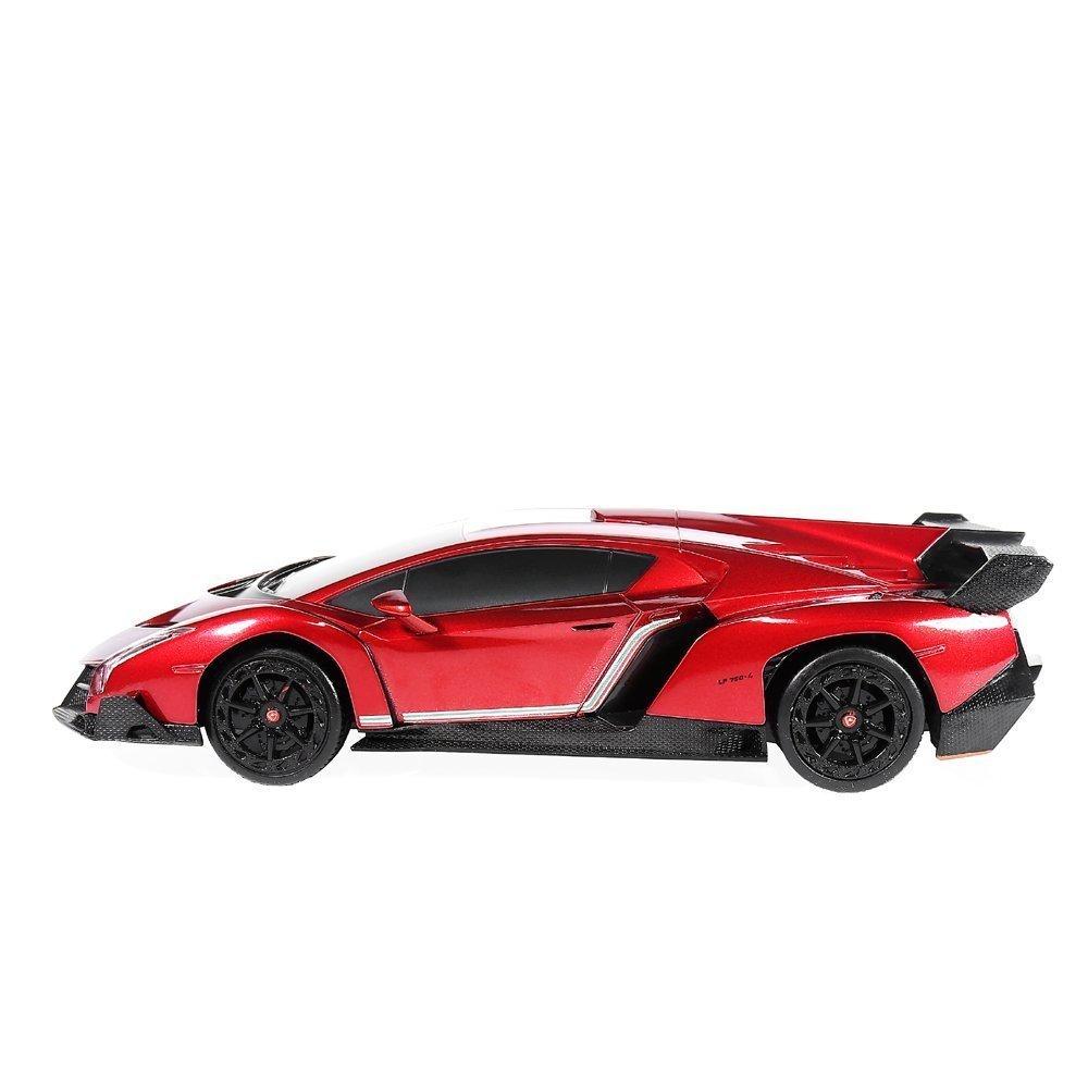 RW 1/24 Scale Lamborghini Veneno Car Radio Remote Control Sport Racing Car RC,Red