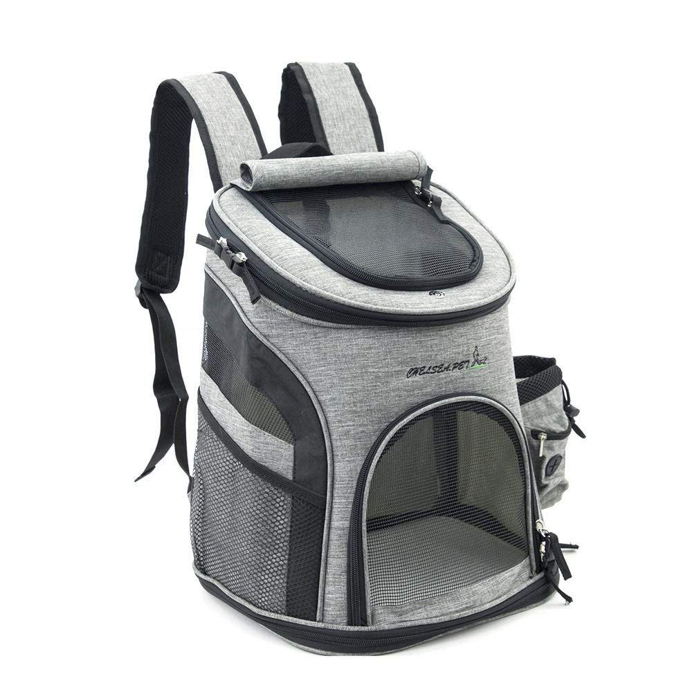 Black 393425cm Black 393425cm RedGoodThings Hemp Cotton Breathable greenical Pet Backpack Small and Medium Cats and Dogs Out of Portable Pet Supplies (color   Black, Size   39  34  25cm)