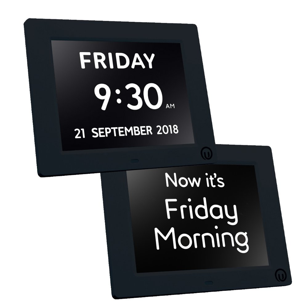 "Unforgettable 2-in-1 Calendar & Day Clock with 7"" Display Digital Calendar Day and Date Clock for people living with Dementia, Memory Loss and Visual Impairment"