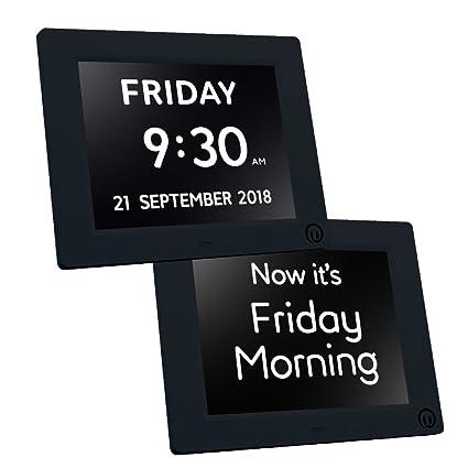 Unforgettable Calendario con Reloj Digital, 2 en 1, Pantalla de 7 Pulgadas, para