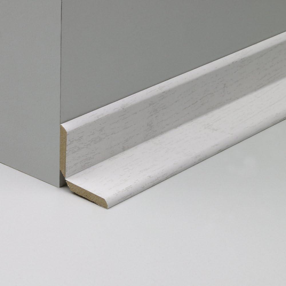 Winkelleiste Schutzwinkel Winkelprofil Tapeten-Eckleiste Abschlussleiste Abdeckleiste aus MDF in Hochglanzwei/ß mit fein gepr/ägter Maserung 2600 x 32 x 32 mm