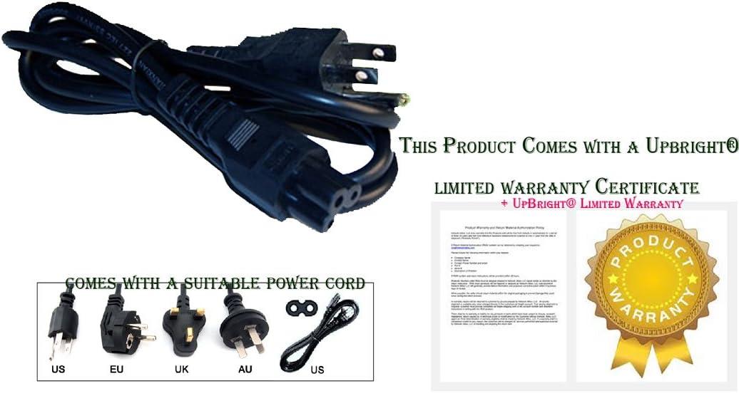 UPBRIGHT New AC Power Cord Cable Plug Lead for Casio Portable Slim LED DLP Video Projector XJ-240 XJ-A140 XJ-A140V XJ-A155V XJ-A145U XJ-S41 XJ-S35 XJA140 XJA155V XJA145U XJS41 XJS35