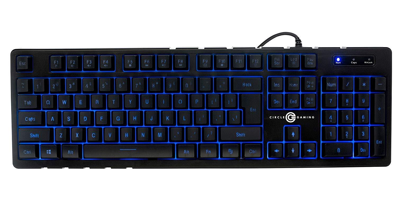 Circle Battle Pro LED 7 Colour Backlit Gaming Keyboard (Black)