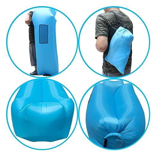 Camping & Hiking Gentle 240*70cm Fast Inflatable Sofa Lazy Bag Air Sofa Sleeping Bag Camping Portable Air Chair Beach Bed Air Hammock Nylon Sofa Lounger Latest Technology