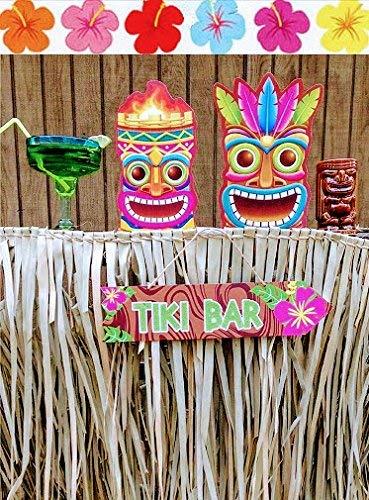 Tiki Bar Palm Thatch Grass Bundle (4 pieces - each sheet is 5'H x 4'W) by Caribbean (Image #2)