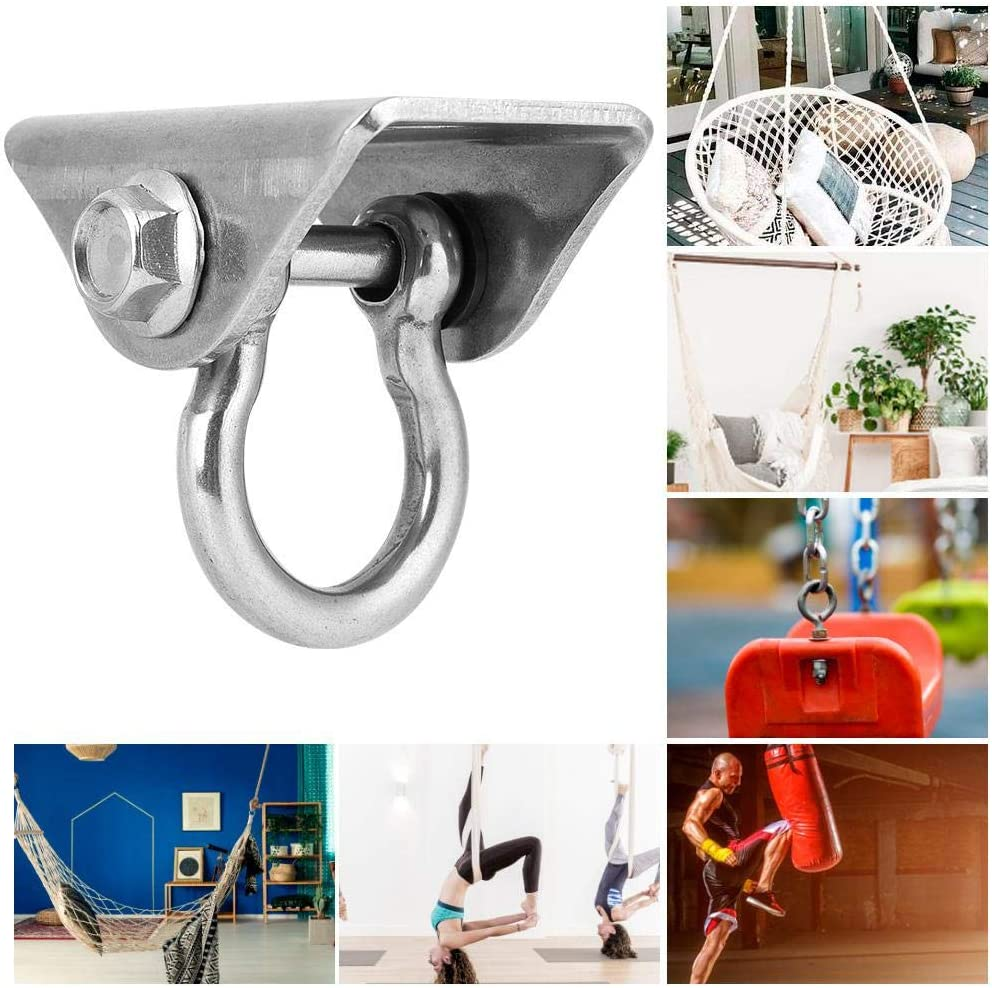 D-Type Suspension Swing Hanger Hook Stainless Steel Fixed Plate Hammock Hanging Chair Accessory Delaman Swing Fixed Plate
