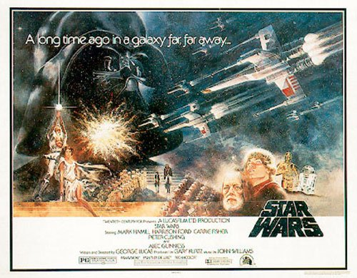 Star Wars: Episode IV - A New Hope - Movie Poster: Half Sheet (Size: 40'' x 27'') (Poster & Poster Strip Set)