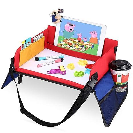 Mesa para Niños en la Asiento de Coche, YOOFAN Bandeja de Viaje Snack, Viajan Niños Play Tray, Mesa para Niños, Bandeja para Coche, Cochecito, Avión