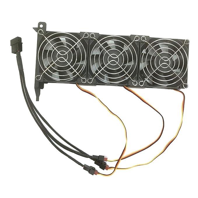 Shiwaki PCIe 3-Fan GPU Cooler Caja del Chasis De La Computadora ...