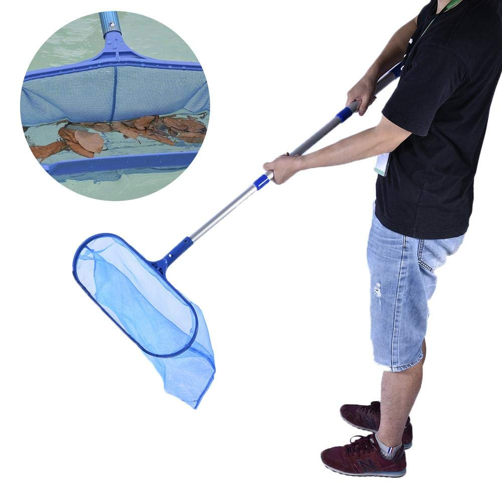 16 Inch Deep-Bag Pond Pool Leaf Cleaning Net Skimmer Rake with Detachable Telescopic Pole for Spa Koi Fish Pond Pool Cleaning Lembeauty