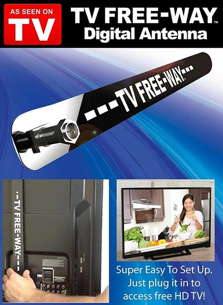 JMRoo TV Freeway TV Free-Way Antenna Digital TV Antenna HD Digital Indoor TV Antenna as Seen on TV