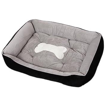 Cama para Perro Gatos Pequeño Grande Mascotas Sofá Lavable (XL:90*70*