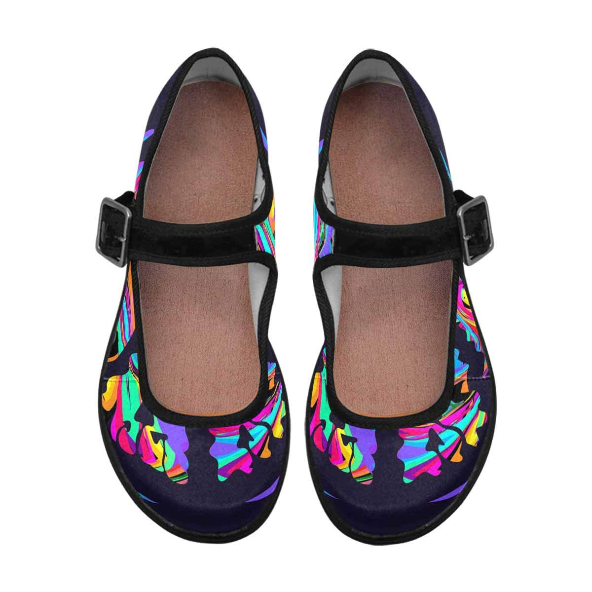 INTERESTPRINT Womens Slip-Resistant Mary Jane Flats for Dr Scholls Colful Peace Symbol