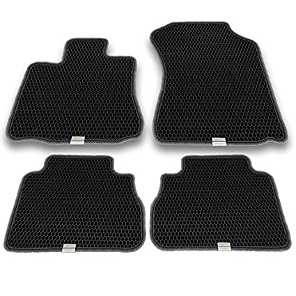 Custom Fit with Dual Layered Honeycomb Design for Toyota Tundra Crew Max 2007-2013 Easy to Clean. EVA Material Motliner Floor Mats All Weather Heavy Duty Protection for Front and Rear