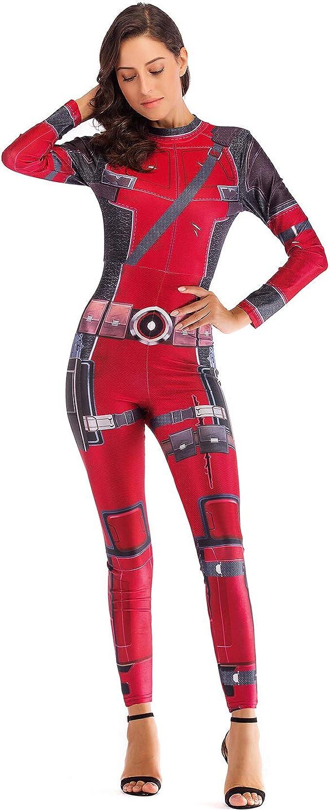 Disfraz De Deadpool para Mujer Disfraz De Halloween Show De ...