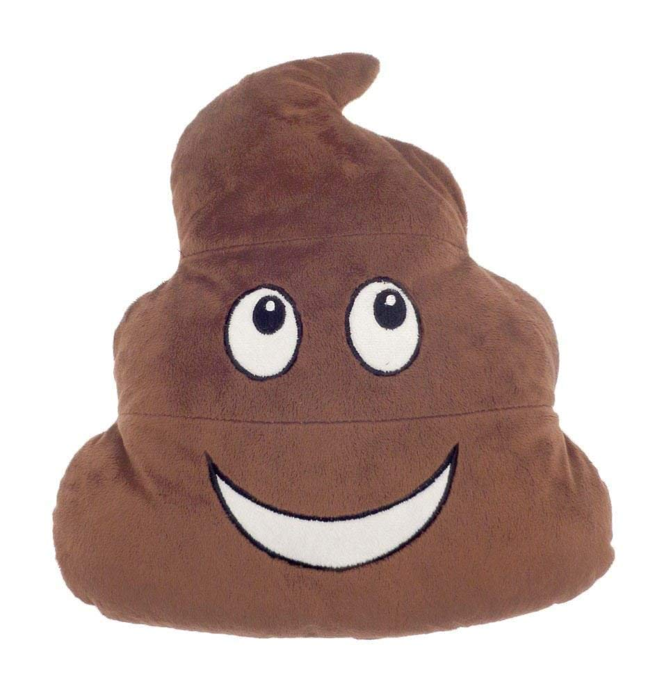 Poo Emoji Cushion Football Galaxy Poop Kids Hot Water Bottle with Cover 1L 100% Natural Rubber Plush Peluche (Poo) CityComfort
