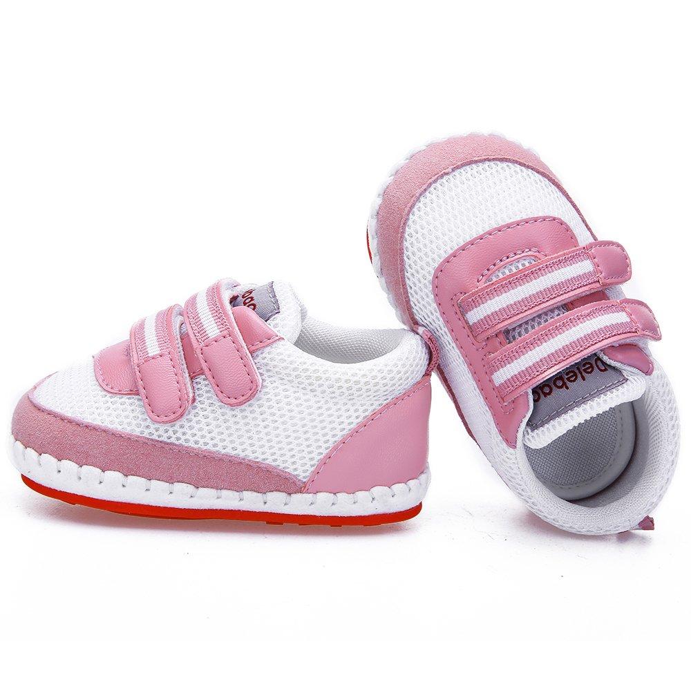 DELEBAO Babyschuhe Baby Turnschuhe Krabbelschuhe Mesh Atmungsaktiv Baby Schuhe mit Weicher und Rutschfester Sohle f/ür Kleinkind und Kinder