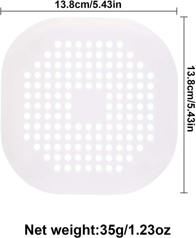 Filtro tap/ón de Drenaje con Ventosa para ba/ño 4 Unidades Tapones de Drenaje de Ducha Trampa Tubo de Silicona Cocina Protector de Drenaje para el hogar ALADILY colador