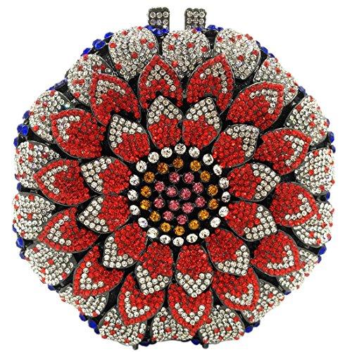 Clutch Fête Bal Sac Main Bandouliere Tournesol Sac Mariage Femme Soirée Multicoloured Maquillage Pochette Chaîne pour à Bourse 1PSw77