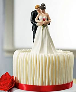 wedding cake topper elegant bride groom cutting cake amazonco