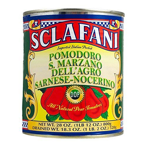 (Sclafani San Marzano Tomatoes, DOP, 28 oz (4 PACK))