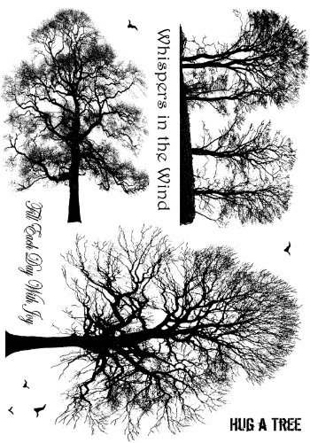 Crafty Individuals CI-209 Unmounted Rubber Stamp, Winter Trees