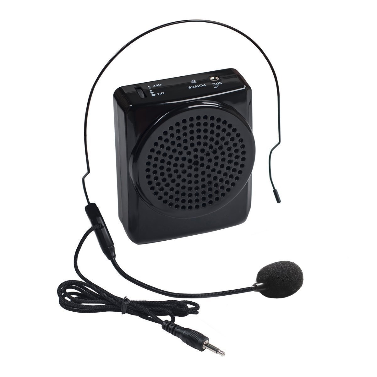 DuaFire Voice Amplifier Portable Microphone with Waistband for Classroom Teachers, Speakers, Yoga Instructors, Gym Directors, Coaches, Presentations, Seniors and Tour Guides (Black) by DuaFire
