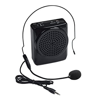 speakers microphone. duafire voice amplifier portable microphone with waistband for teachers, speakers, yoga instructors, gym speakers amazon.in