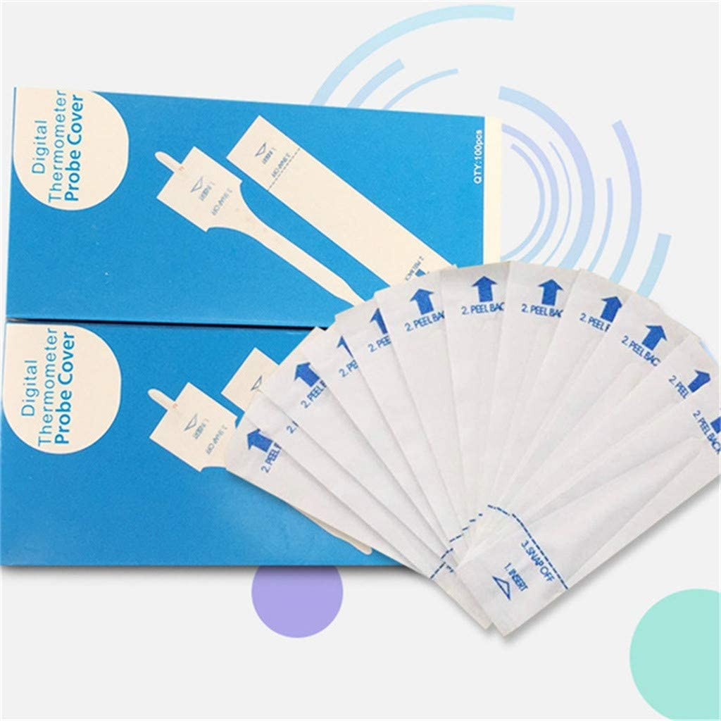 sakd 300PCS Digital Thermometer Probe Covers Case Disposable Protector Filter Cap Baby Digital//Mercury Thermometer Replacement Paper Bag