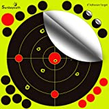 Sunba Youth Shooting Targets 8 inch Adhesive Target Paper Targets Reactive shooting Targets Rifle Pistol AirSoft BB Gun Air Rifle-- 19 Cover Up Patches Per Target for More Shooting