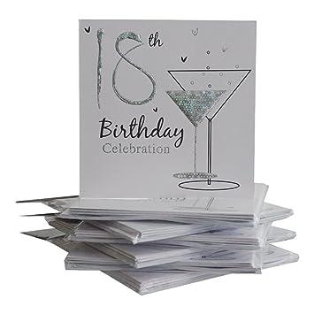Amazon.com: Invitaciones para fiesta de cumpleaños 18 ...