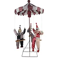 MARIO CHIODO Seasonal Visions Animated Clown Go-Round Prop