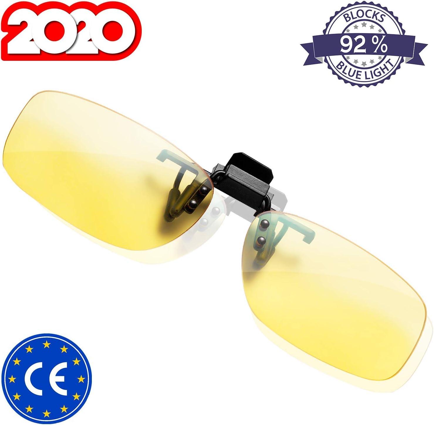 KLIM™ OTG - Gafas de Clip para Bloquear la luz Azul - Nuevas - Alta protección Frente a la Pantalla - Gafas Gaming para PC, móvil, TV - Anti Fatiga, Anti luz Azul - Filtran la luz Azul