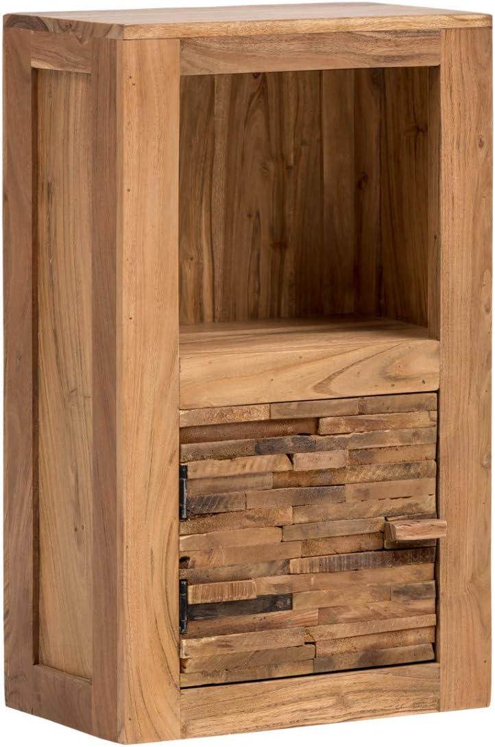 Woodkings Bad Hangeschrank Holz Akazie Massiv Wandschrank Matay