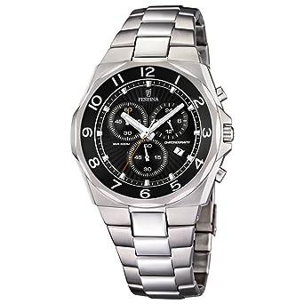 Amazon.com: Reloj Festina Hombre F6818/6 Cronógrafo Acero ...