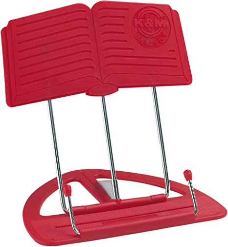 K&M 12450 Uni-Boy Classic - Atril de mesa, color rojo: Amazon.es ...